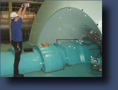 Taking Images of a Turbine Generator Shell